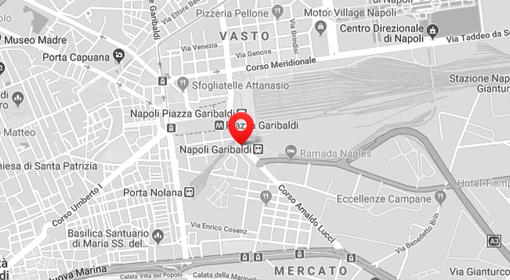 Cartina showroom Aldo Forte a Napoli