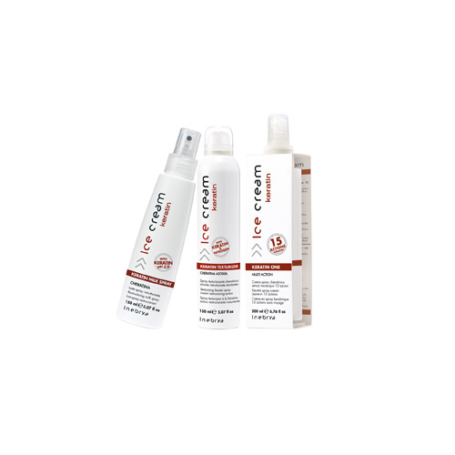 ICE CREAM KERATIN - spray, one, texturizer - INEBRYA