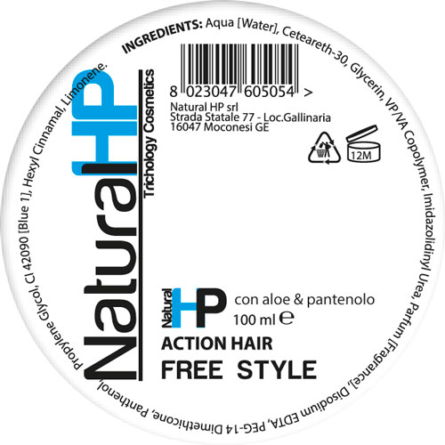 ACTION HAIR - paste for hair - NATURAL HP