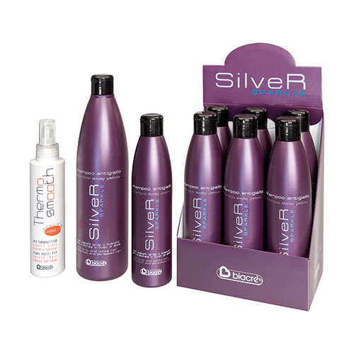 THERMO SMOOTH - speciale piastra SILVER SPARKLE - shampoo antigiallo