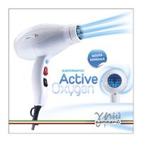 <p>Το πιο ενεργό μοντέλο εύρος οξυγόνου είναι εξοπλισμένο με μια ειδική λάμπα που προσθέτει στην τυπική δράση του στεγνωτήρα μαλλιών την αποτελεσματικότητα του ένα ευεργετικό ενεργό λύματα οξυγόνου ' με απαλά την εναπόθεση στα μαλλιά.<br>Τα οφέλη που αποκ - GAMMA PIU