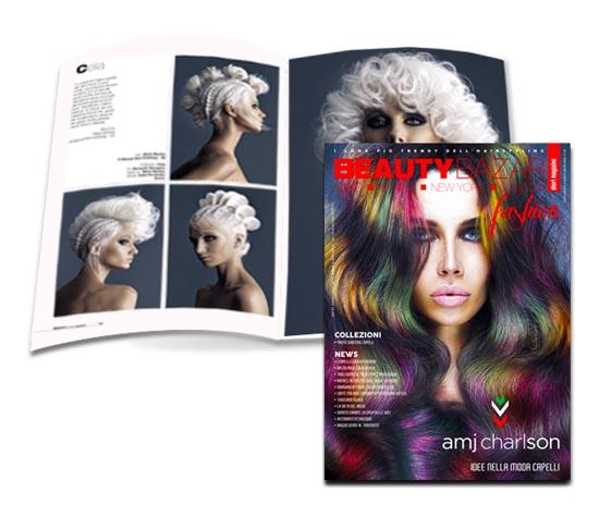 AMJ CHARLSON ❤️ è sulla copertina di BEAUTY BAZAR fashion !