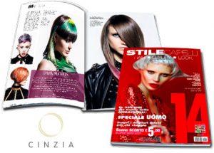 CINZIA PARRUCCHIERI è stato pubblicato sulla prestigiosa rivista STILE CAPELLI come uno dei migliori parrucchieri in Italia