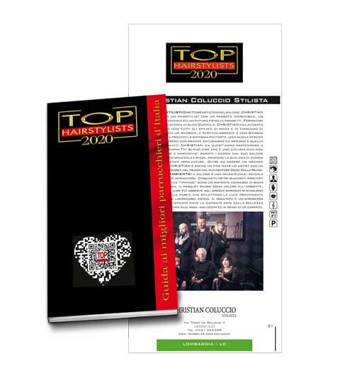 CHRISTIAN COLUCCIO è stato pubblicato sulla TOP HAIRSTYLISTS 2020 !
