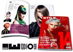 EGIDIO BORRI è stato pubblicato su STILE CAPELLI 14 come uno dei migliori parrucchieri in Italia