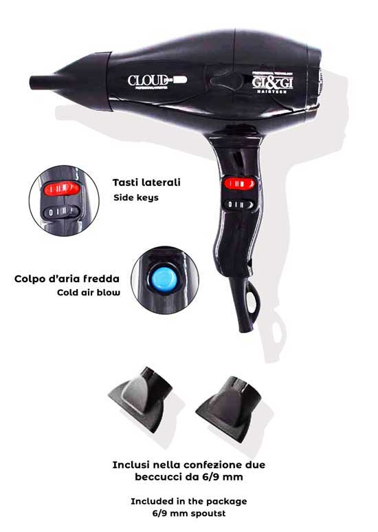 CLOUD PLUS 2000 Professional Hair Dryer
