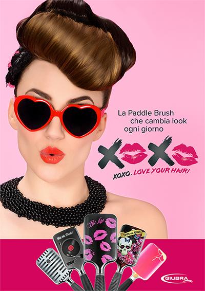 Xoxo Paddle Brush Giubra