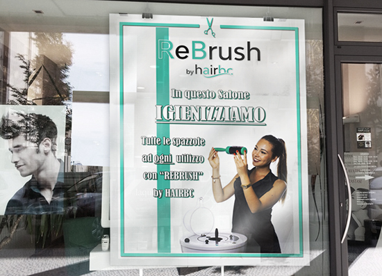 Locandina Rebrush Salone Parrucchiere