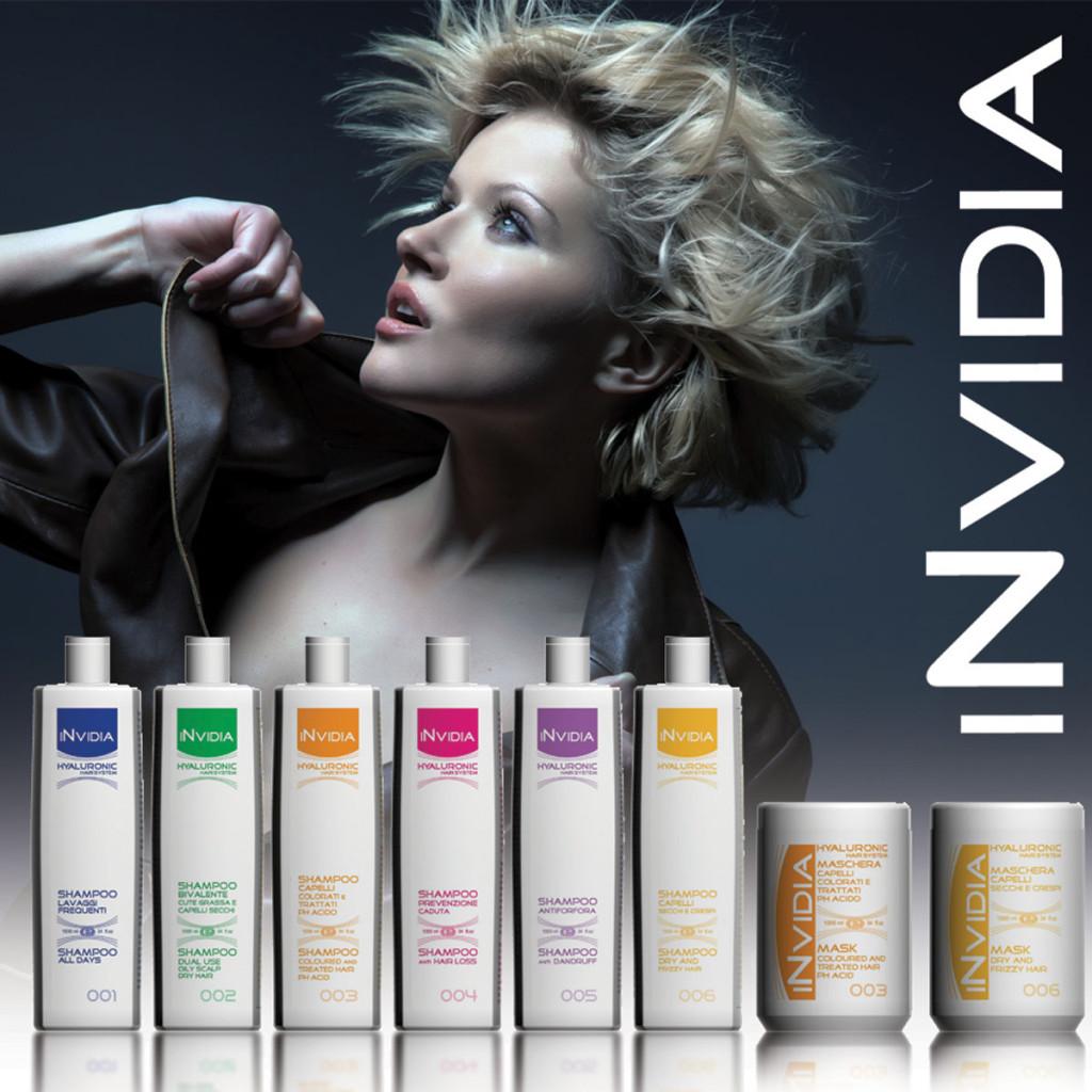 shampoo e maschere Invidia a base di acido jaluronico