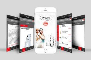 RAYWELL– linea di prodotti cosmetici professionali per parrucchieri di Settimo Milanese (Milano) –  ti invita a SCARICARE la sua App