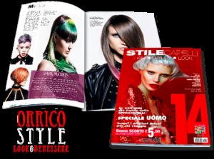 ORRICO STYLE è stato pubblicato su STILE CAPELLI 14 come uno dei migliori parrucchieri di Italia