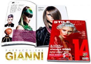 PARRUCCHIERE GIANNI è stato pubblicato sulla prestigiosa rivista STILE CAPELLI come uno dei migliori parrucchieri in Italia
