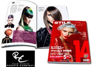 ROBERTO CARMINATI è stato pubblicato sulla prestigiosa rivista STILE CAPELLI come uno dei migliori parrucchieri in Italia