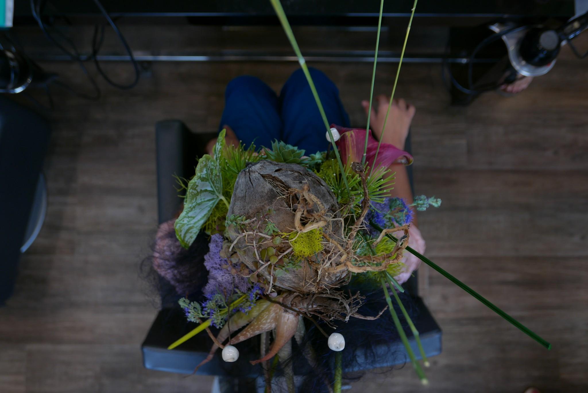 MasterFlowers creazioni artistiche floreali insieme a Marché Nomade