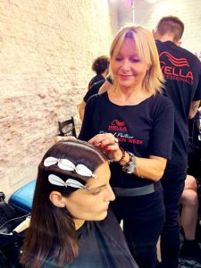 ALESSANDRA CARRER del Salone Alessandra è stata OFFICIAL HAIR STYLIST della Milano Fashion Week 2019