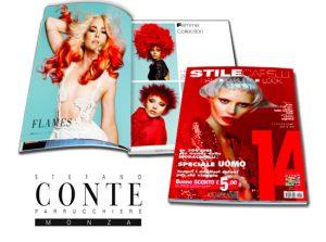 STEFANO CONTE è stato pubblicato su STILE CAPELLI 14 come uno dei migliori parrucchieri di Italia
