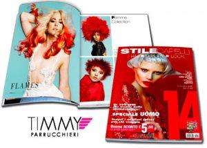 TIMMY PARRUCCHIERI è stato pubblicato su STILE CAPELLI 14 come uno dei migliori parrucchieri di Italia