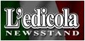 Edicola - News Stand - The newspaper kiosk daily Corriere della Sera, La Repubblica, Il Sole 24 Ore, Il Messaggero, Libero, L'Unità