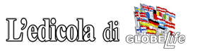 L'edicola dei giornali quotidiani Corriere della Sera, La Repubblica, Il Sole 24 Ore, Il Messaggero, Libero, L'Unità